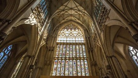 The recently restored Great East Window