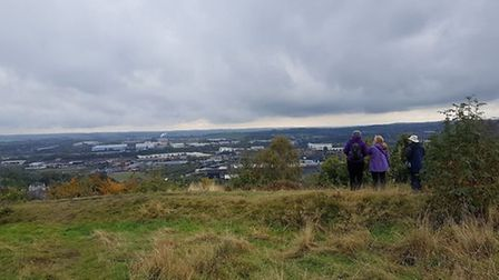 At the top of Wincobank Hill - photo Wild At Heart - Sheffield & Rotherham Wildlife Trust