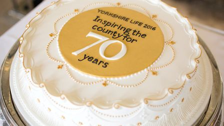 Yorkshire Life celebrates its 70th anniversary with a cake supplied from Bettys, Harrogate