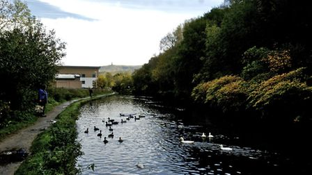 The Canal at Todmorden. Pic Joan Russell