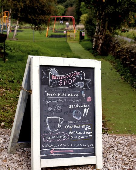 Pic Joan Russell The Darley shop in Darley, Nidderdale,North Yorkshire which is also a cafe and will
