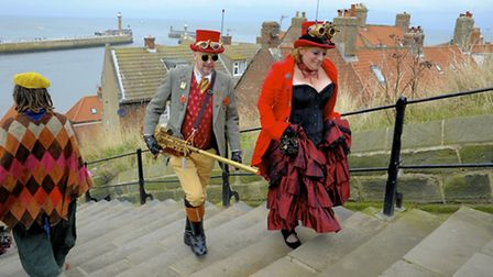 Goths make a pilgrimage to Whitby twice a year Goths on Whitby's streets