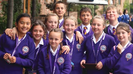 Pupils from King's Magna – Queen Ethelburga's middle school for children aged 10-14 – look keen to l