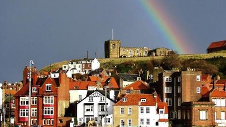 Whitby rainbow by Janet Danks