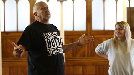 John Godber during rehearsals for his playThis Might Hurt