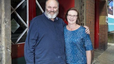 Cartwright with Katie Town, executive director of the Theatre Royal Wakefield