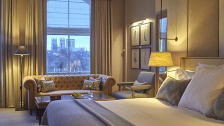 A junior suite with a view of York Minster