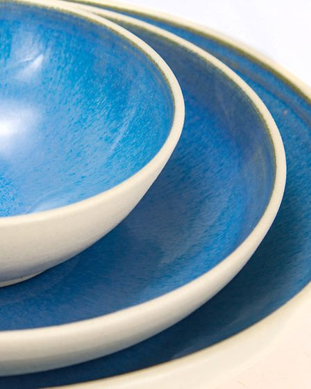 Colour is key when it comes to great crockery, as these beautiful blue pieces on display in York sho