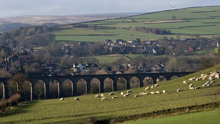 The Grade II listed Penistone viaduct that carried the Lancashire and Yorkshire Railway