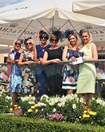 A glamorous line-up at York races