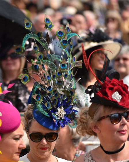 Spectacular hats catch the eye at York Racecourse
