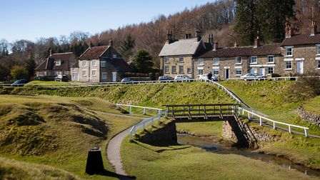 Hutton-le-Hole. one of the most popular villages in the North York Moors National Park Photo Robert
