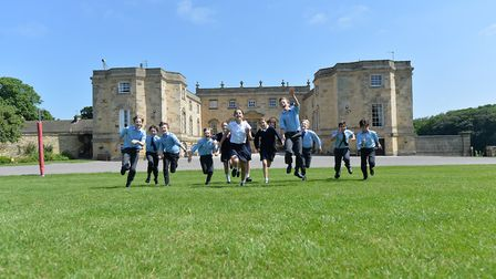 St Martins pupils do what children do best play in the grounds of Gilling Castle