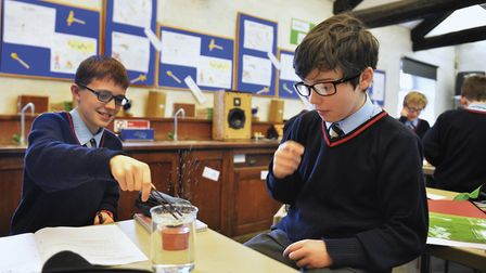 Is it meant to do that? Things take an interesting turn in a science lesson at St Martins Ampleforth