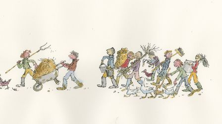 Artwork by Sir Quentin Blake which will be on show at The Artworks in Halifax until June 30 2017