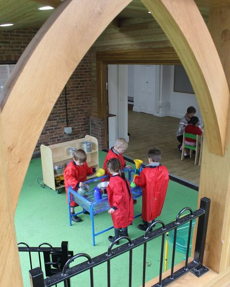 The new nursery is: an architect-designed oak and glass extension and refurbishment of the White Hou