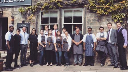 Staff at The Fleece ready for opening night