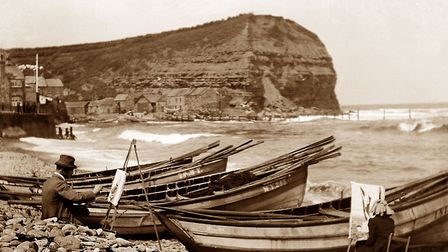 Artists drawn to Staithes in the early 1900s Photo Alamy