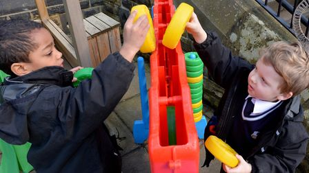 Young pupils at The Leeds Grammar School play together