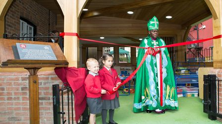 The Archbishop of York, Dr John Sentamu opens The Minster School's new Early Years building