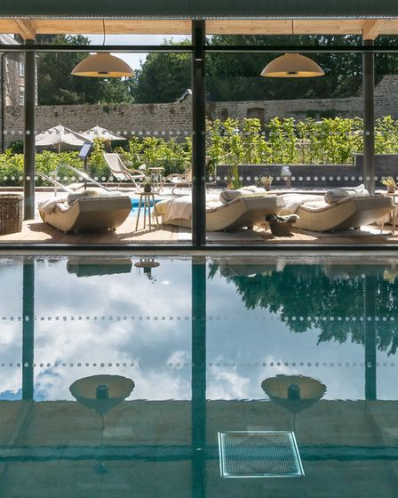 The pool looking through to the terrace