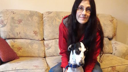 Annie Graham is just potty about rescue dog Noah