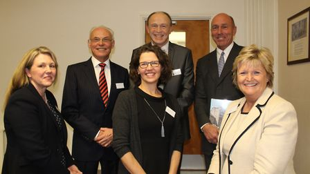 Speakers including Old Pocklingtonian Martin St Quinton (back row, far right) at the launch of the P