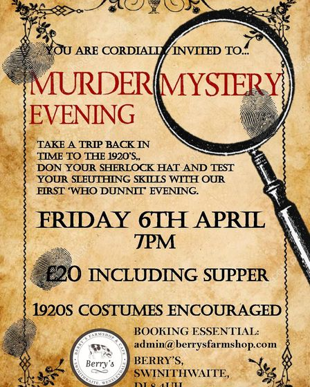 Murder Mystery Evening - The Wensleydale Experience