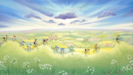 Lucy Pittaway has created a piece of work has been created for each stage of the Tour de Yorkshire