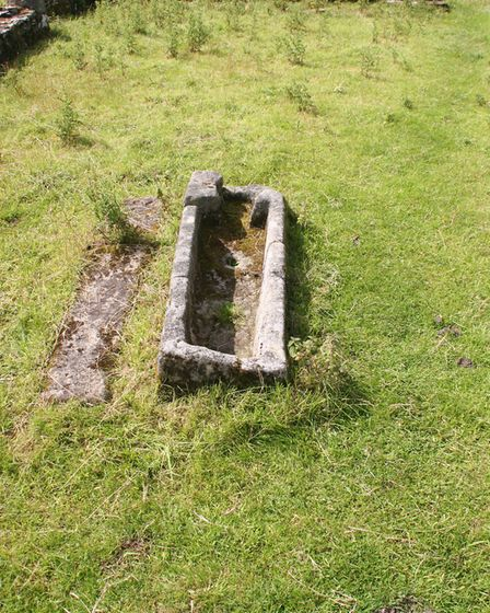 A Knights Templar grave - they may have been ferocious but they were far from giants