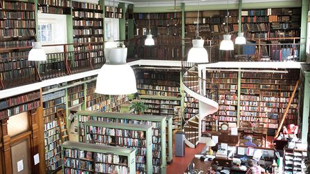 Main room of Leeds Library - for anyone vaguely fond of books, it is a magical place
