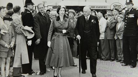 The show's history is celebrated with archive images such as this of a royal visit in 1957
