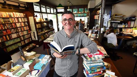 Mike Sansbury, manager of the Grove Bookshop, Ilkley, West Yorkshire.