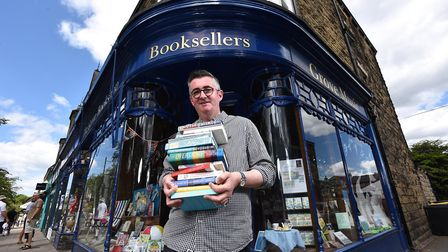 Mike Sansbury, manager of the Grove Bookshop, which celebrates its 40th anniversary this year