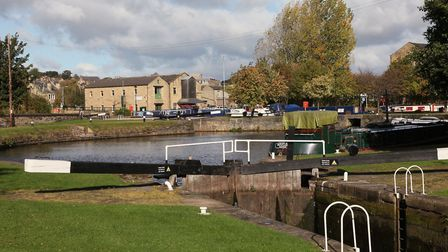 The locks and Brighouse Basin...
