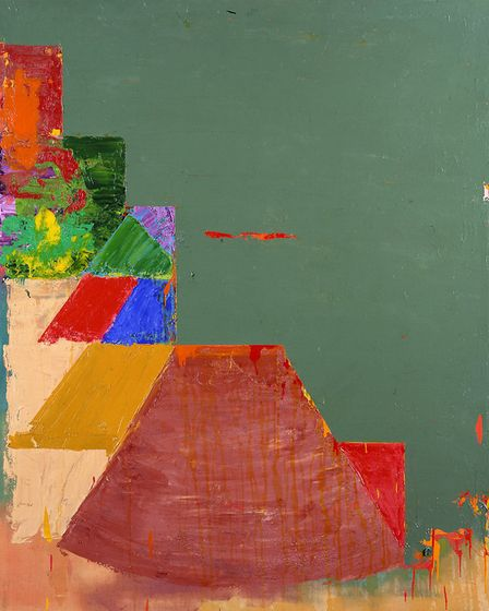 The band agreed on Pact by John Hoyland, 1978