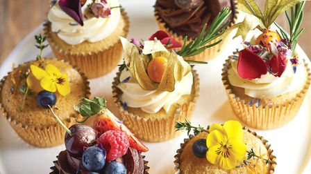 Simple vanilla cupcakes are made super-stylish with a few imaginative toppings