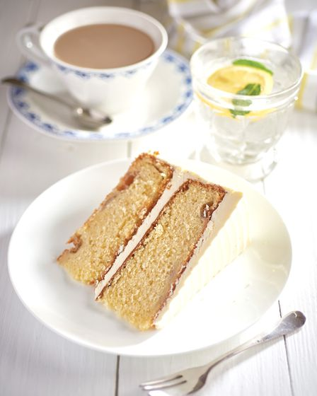 Gooseberry and elderflower cake – one of the many tearoom creations inspired by Ian and his 'mystery