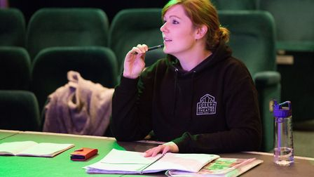 Founder of the Joseph Rowntree Theatre Company Kayleigh Oliver doing what she does best – directing