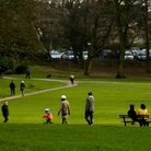 Hall Park, a large community park in Horsforth