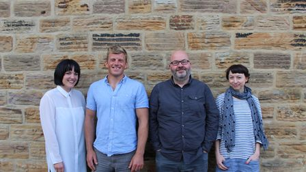 Artists Hayley Youell, Dan Jones, Patrick Murphy and Louise Wright