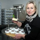 Urban cheesemaker Sophie Williams with her flagship product, Little Mester