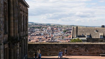 An unusual view of Whitby townscape from the grounds of the abbey Photo: Nigel Wallace-Iles