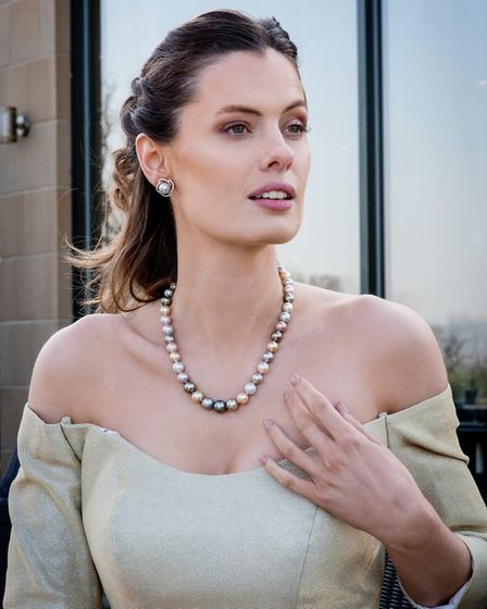 Berry's Natural Cultured Multi Coloured South Sea Pearl & Pink Fresh Water Pearl Necklet £14,995 Be