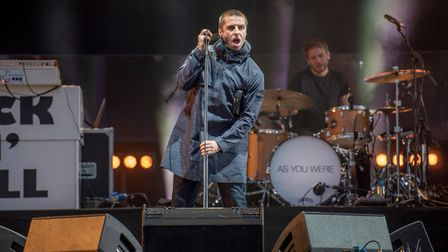 Liam Gallagher performs on the main stage at Leeds Festival 2017, Bramham Park, Leeds Photo: Gary Ma