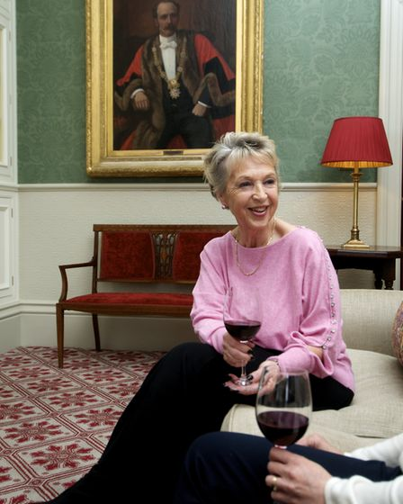 Club member Sylvia Bagnall relaxes with a glass of wine