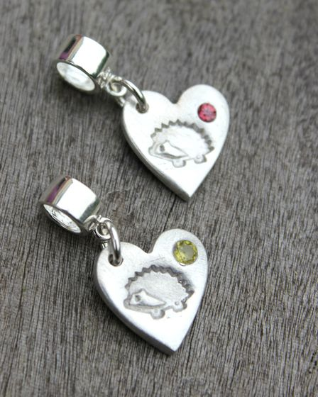 Silver birthstone charms from Emma's fundraising Little Silver Hedgehog collection