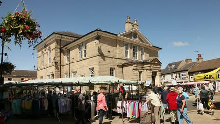Wetherby town Hall and market...