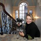 Hannah Phillip takes time out to enjoy Fairfax House in York with her dog Pip