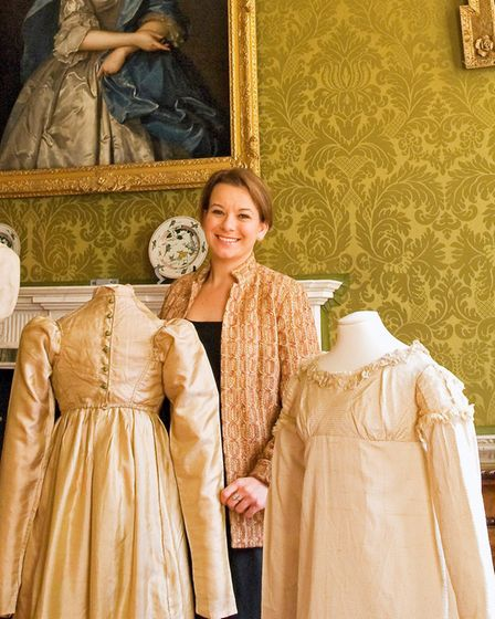 Hannah's passion for historic fashion was ignited in Australia and has grown in strength since she m